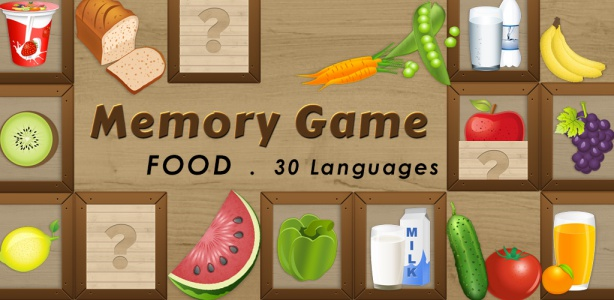 Image For: Kids game – Memory Match Food